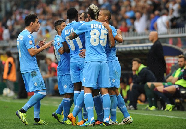 Napoli beat Genoa to top Serie A