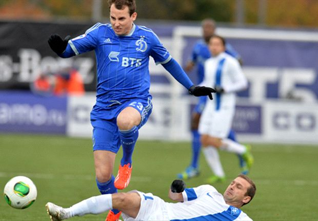 The Socceroo fullback in action during Dinamo's win
