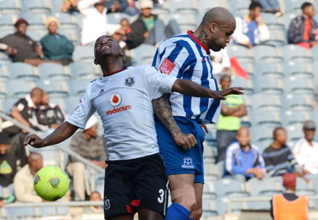 Patrick Phungwayo of Orlando Pirates in action against Maritzburg