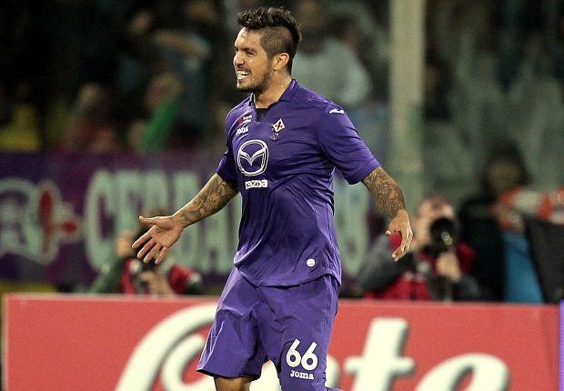 Juan Manuel Vargas, tornato dal Genoa alla Fiorentina