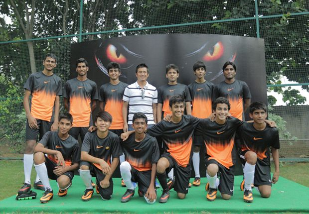 Bhaichung Bhutia impressed by young footballers at the Nike Hypervenom India Knockout competition
