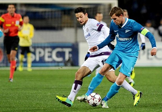 Zenit 0-0 Austria Vienna: Witsel off as hosts frozen out