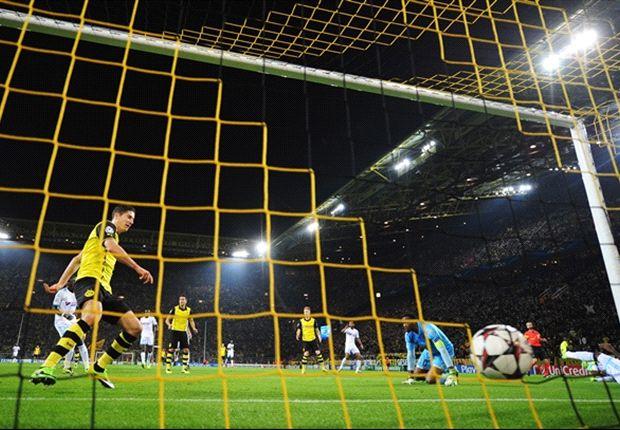 Gol semata wayang Lewandowski buat Dortmund unggul di babak pertama.