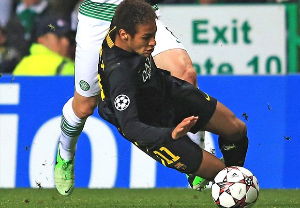 Neymar exaggerated minimal contact from Brown, says Lennon