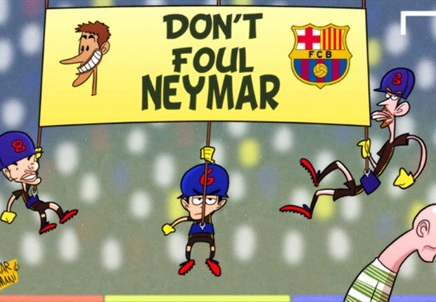 Cartoon - Ne touchez pas à Neymar !