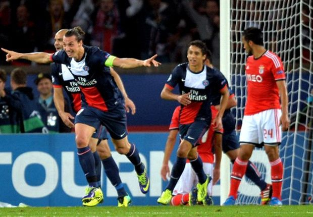 Paris Saint-Germain 3-0 Benfica: Ibra leads walk in the Parc