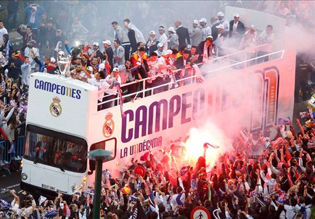 IN PICS: Real Madrid celebrate in Cibeles