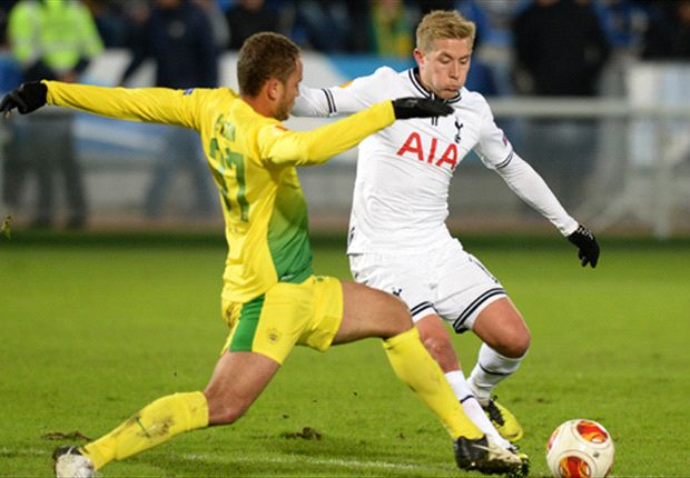 Anzhi Makhachkala 0-2 Tottenham: Defoe and Chadli strike as Spurs stroll