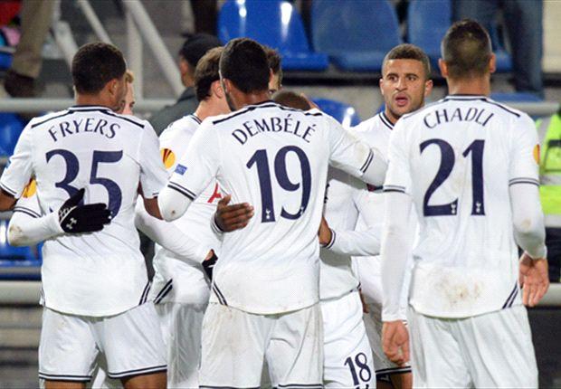 Tottenhams Spieler bejubeln den zweiten Sieg