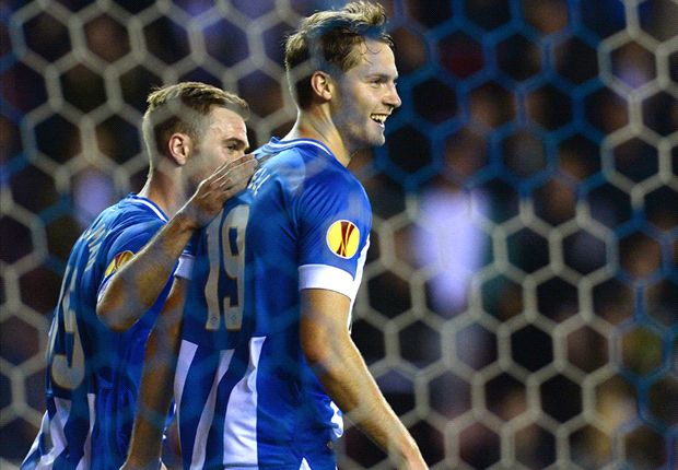 Wigan 3-1 Maribor: Powell double secures historic Latics win