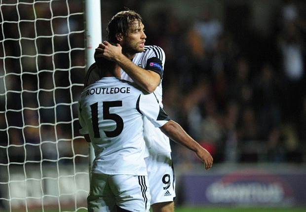 Swansea 1-0 St Gallen: Routledge & Tremmel keep Swans on track
