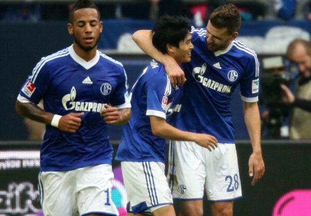 Durften jubeln: Die Spieler des FC Schalke 04