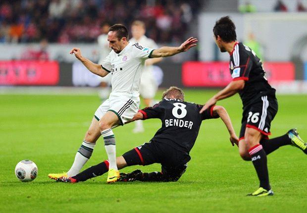 Franck Ribery konnte sich immer wieder gegen die Leverkusener durchsetzen