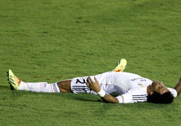 Marcelo, lesionado con el Real Madrid