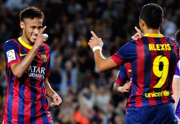 Im Spiel gegen Valladolid harmonierte er prächtig mit Neymar: Alexis Sanchez