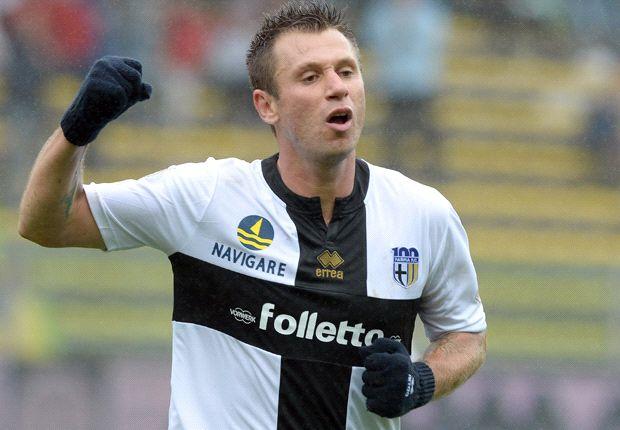 Konnte beim FC Parma bislang zwei Saisontreffer bejubeln: Antonio Cassano