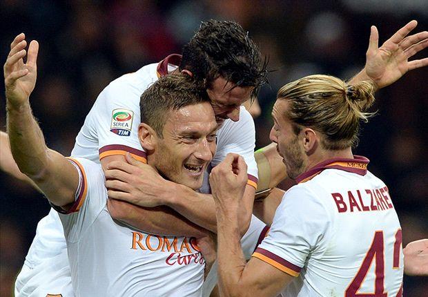 Der AS Rom und Francesco Totti jubeln und jubeln