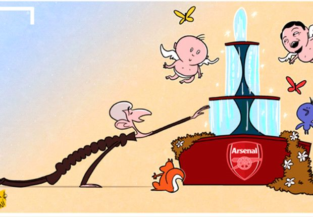 Cartoon - Wenger goûte enfin sa fontaine de jeunesse