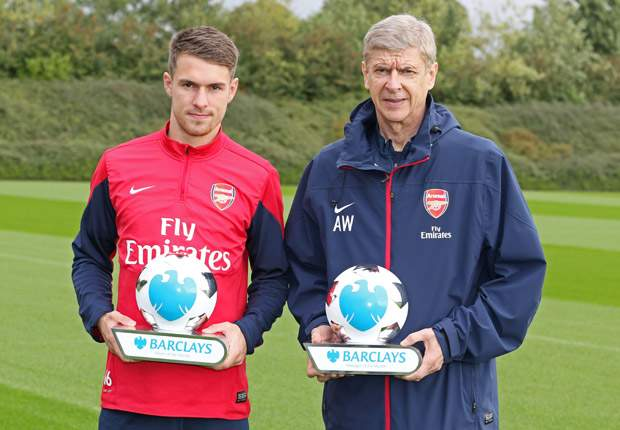 Ramsey and Wenger win Player and Manager of the Month