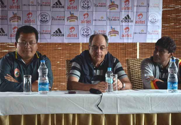 Singto (left) also praised East Bengal coach Marcos Falopa (Photo: SLFC)