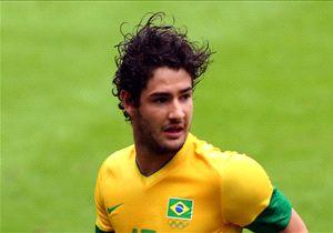 ALEXANDRE PATO BRAZIL NEW ZEALAND OLYMPICS 01082012