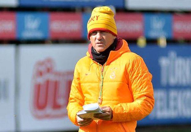 Roberto Mancini estuvo presente este domingo en el entrenamiento de Uruguay