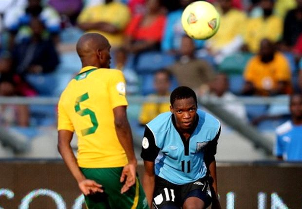 Botswana forward Mogakolodi Ngele against Bafana Bafana in a World Cup qualifier