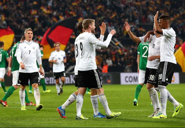 Germany, Belgium & the nations that have qualified for the World Cup