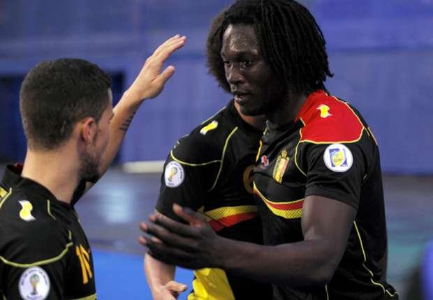 Dua gol Romelu Lukaku loloskan Belgia ke Piala Dunia