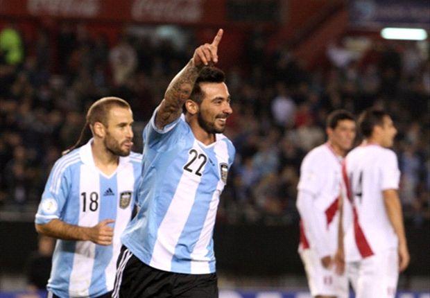 Argentina 3-1 Peru: Lavezzi double continues Albiceleste streak