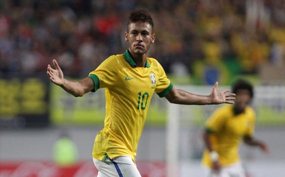 NEYMAR BRAZIL SOUTH KOREA 12102013