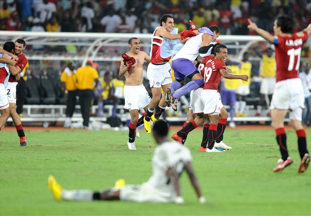 Egypt celebrated when Ghana fell in the 2010 Afcon final