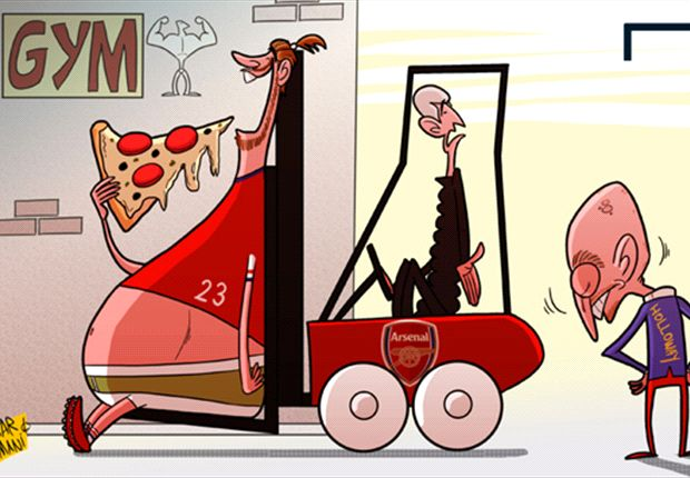 Cartoon - Wenger a lutté contre le flop Bendtner