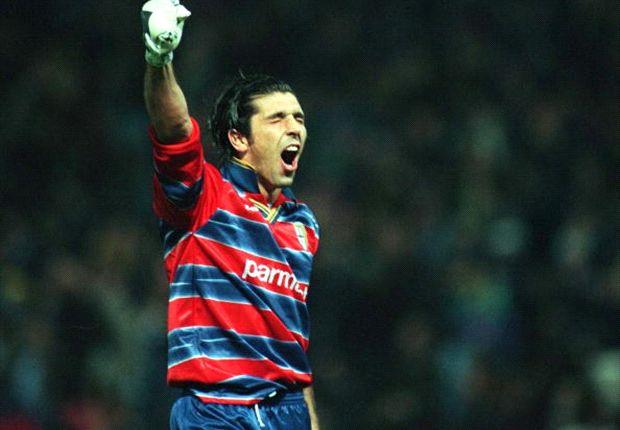 Buffon, cuando defendía los colores del Parma