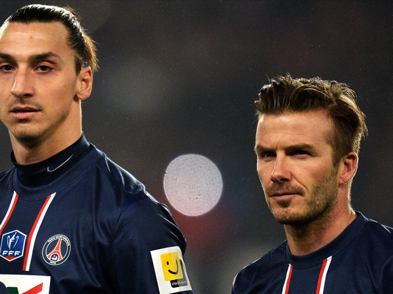 Ibrahimovic: Beckham is a cool guy - I look up to him
