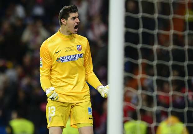 Atletico Madrid goalkeeper Thibaut Courtois