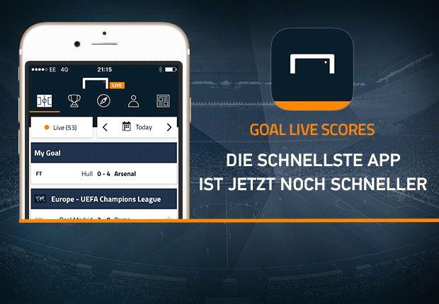Die neue und verbesserte Version von Goals Live-Scores-App ist da