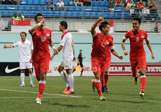 Khairul Amri scored when Singapore beat Syria in October.