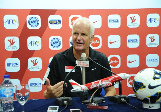 Stange got his first competitive victory in charge of Singapore after beating Syria. (Photo: FAS)