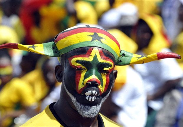 Ghana fan during play-off against Egypt
