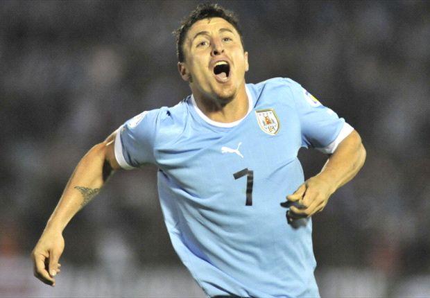 """El """"Cebolla"""" Rodríguez marcó el primer gol frente a Argentina."""