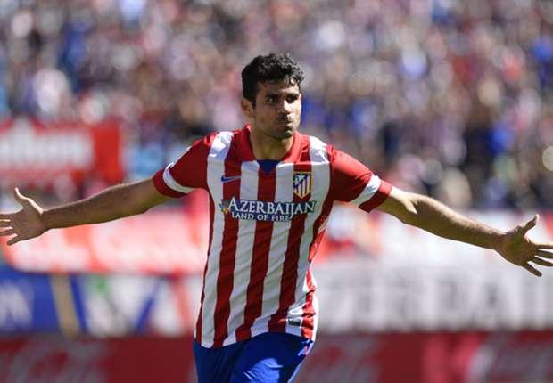 Diego Costa tras marcar un gol con el Atlético Madrid