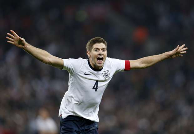 England and Liverpool captain Steven Gerrard.