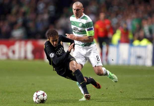Wegen einer Tätlichkeit gegen Neymar ist Scott Brown drei Spiele in der Champions League gesperrt