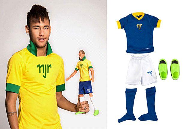 Neymar presentará su muñeco oficial, que se podrá conseguir en Brasil.