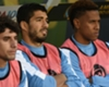 Suárez kon niet spelen wegens blessure