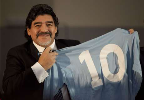 El primer saludo para Diego