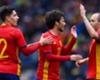 Silva cumple su partido 100 con España