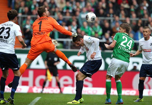 El Werder Bremen igualó con el Friburgo y rompió un récord de 77 partidos con goles en la Bundesliga.