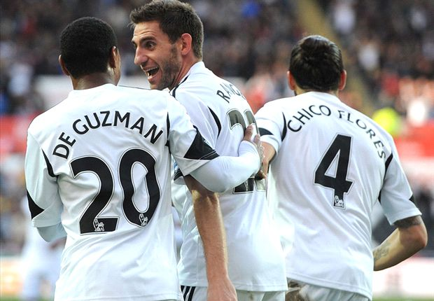 Swansea City 4-0 Sunderland: Poyet's reign begins with crushing defeat
